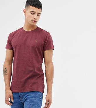 Farah Gloor slim fit logo marl t-shirt in burgundy