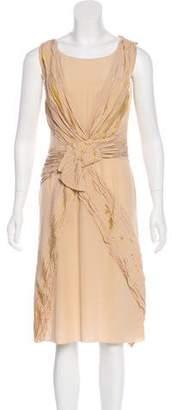 Prada Gathered Silk Dress