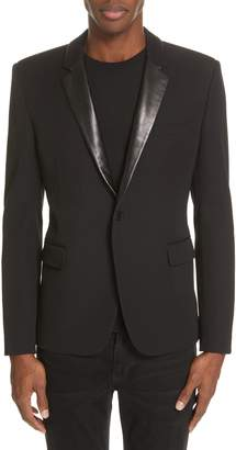Saint Laurent Leather Trim Blazer