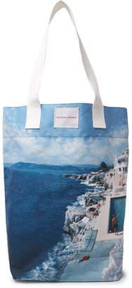 Orlebar Brown Argyle Printed Canvas Tote Bag