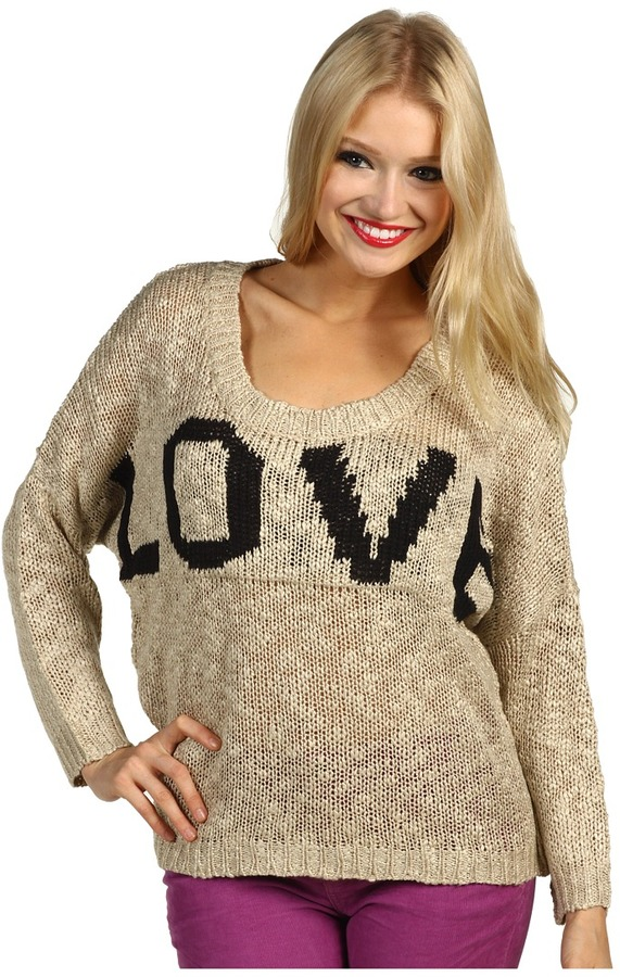 Brigitte Bailey Justine Sweater (Oatmeal) - Apparel
