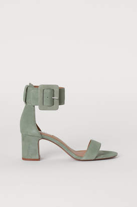 H&M Suede Sandals - Green