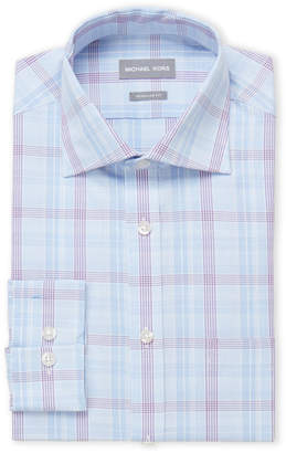 Michael Kors Houndstooth Check Regular Fit Dress Shirt