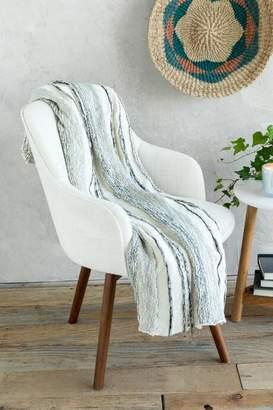 Clarissa Grey Striped Blanket