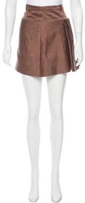 Balenciaga Flared Linen Skirt