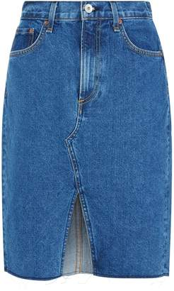 Rag & Bone Suji Front Split Denim Skirt