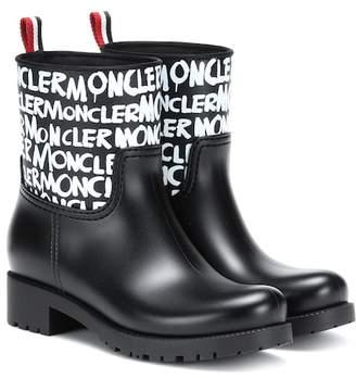 c59eda0f115c Moncler Black Rubber Boots For Women - ShopStyle Canada