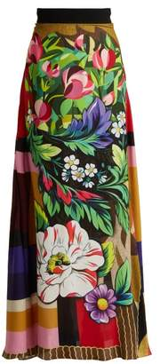 Mary Katrantzou Emily Printed Crepe Maxi Skirt - Womens - Multi
