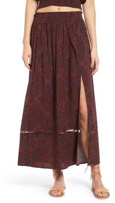 Women's Sun & Shadow Boho Midi Skirt $59 thestylecure.com