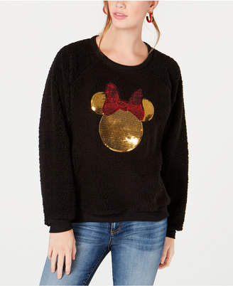 Jerry Leigh Modern Lux Juniors' Minnie Mouse Sequin Plush Sweatshirt