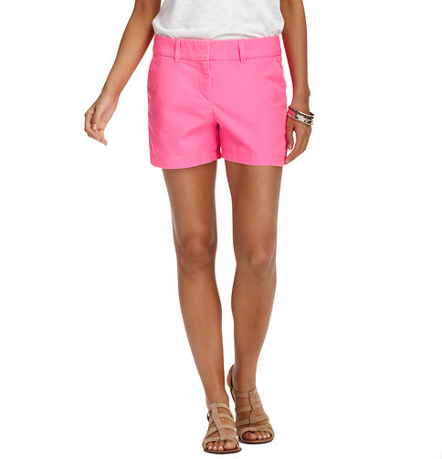 """LOFT Cotton Ripstop Shorts with 4"""" Inseam"""