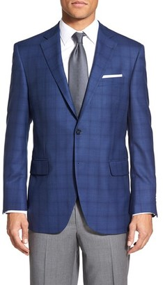 Men's Peter Millar 'Flynn' Classic Fit Plaid Wool Sport Coat $595 thestylecure.com