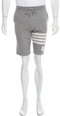 Thom Browne 4-Bar Striped Jogger Shorts