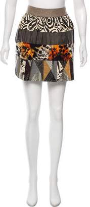 Diane von Furstenberg Paneled Mini Skirt
