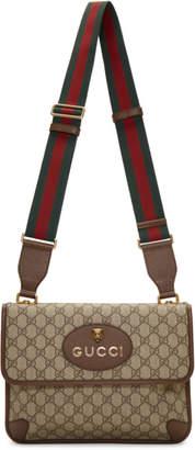 Gucci Brown Neo Vintage Foldover Bag