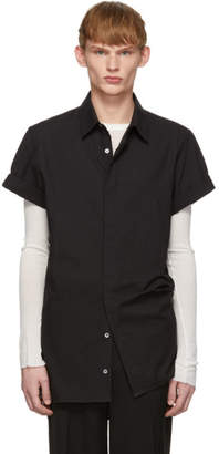 Ann Demeulemeester Black Rolled Cuff Shirt