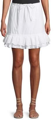 Lovers And Friends Jenna Eyelet Flounce Short Skirt