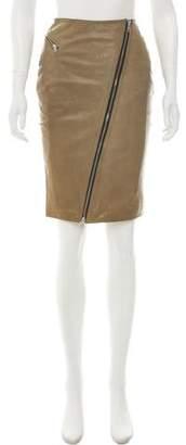BLK DNM Leather Knee-Length Skirt