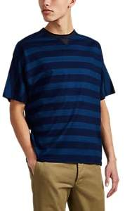 Sage De Cret MEN'S BLOCK-STRIPED COTTON T-SHIRT