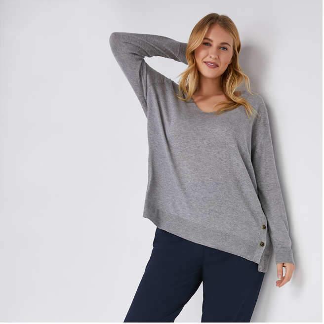 Joe Fresh Women+ Side Button Sweater