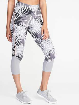 Old Navy High-Rise Mesh-Trim Compression Crops for Women