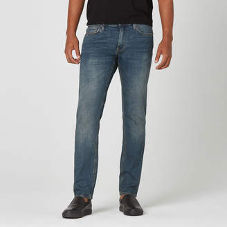 DSTLD Mens Skinny-Slim Jeans in Dark Worn