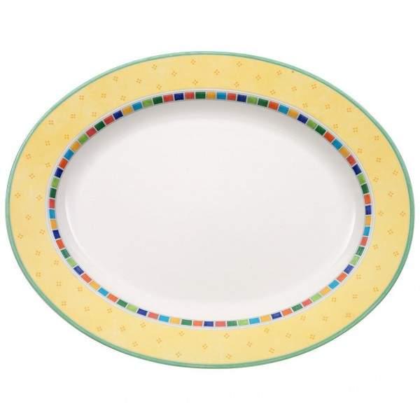 Twist Alea Limone Platte oval