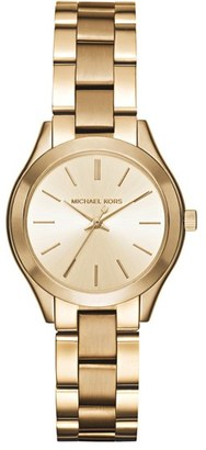 Women's Michael Kors 'Slim Runway' Bracelet Watch, 33Mm $195 thestylecure.com