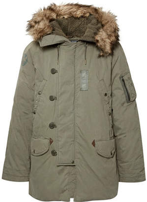 Polo Ralph Lauren Faux Fur-Trimmed Cotton-Blend Hooded Down Parka
