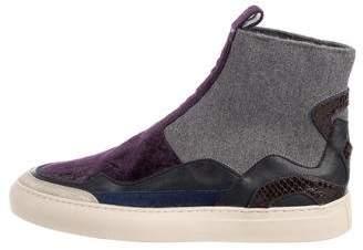 Dries Van Noten High-Top Slip-On Sneakers