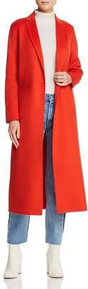 Maje Galaxia Single-Button Long-Line Coat
