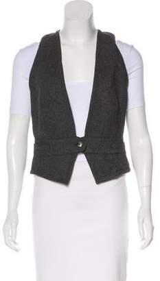 Dolce & Gabbana Herringbone Wool-Blend Vest