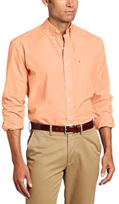 Izod Men's Essential Solid Long Sleeve Shirt (Regular Slim Fit)
