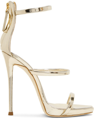 Giuseppe Zanotti Silver Coline Sandals $845 thestylecure.com