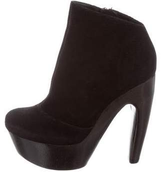 Alice + Olivia Suede Ankle Boots