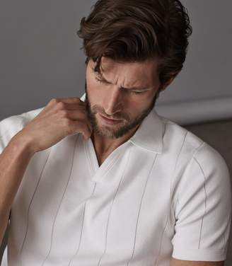 Reiss Dummont Open Collar Polo Shirt