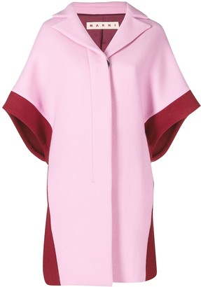 Marni contrast short-sleeve coat