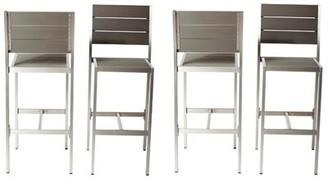 Brayden Studio Sharolyn Modish and Height Anodized Aluminum Armless 4 Piece Patio Bar Stool Set Brayden Studio