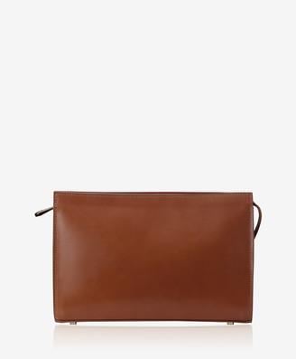 GiGi New York Saint Germain Clutch, Cognac French Calfskin Leather