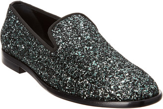 Jimmy Choo Coarse Glitter Slipper