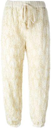 Twin-Set sequin lace trousers $264.39 thestylecure.com