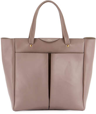Anya Hindmarch Nevis Smooth Tote Bag in Porcini Circus