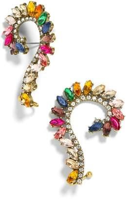BaubleBar Geovana Rainbow Crystal Ear Crawlers