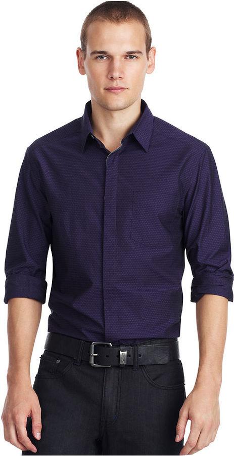 Kenneth Cole Reaction Shirt, Polka Dot Shirt