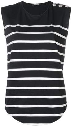 Balmain striped vest top