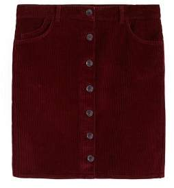 Violeta BY MANGO Buttoned corduroy skirt