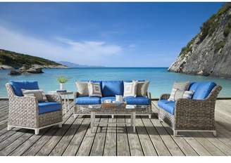 South Sea Rattan Cape Lookout Loveseat With Cushions Fabric