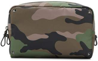 Valentino camouflage print pouch