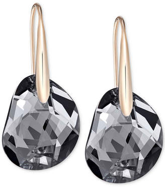 Swarovski Galet Rose Gold-Tone & Faceted Crystal Earrings