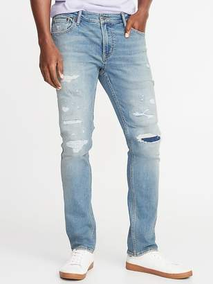 Old Navy Skinny Built-In Flex Distressed Jeans for Men